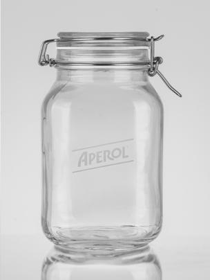 Drahtbuegelglas Logo Gravur Aperol