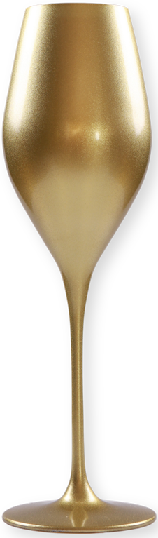 Champagnerglas in Gold