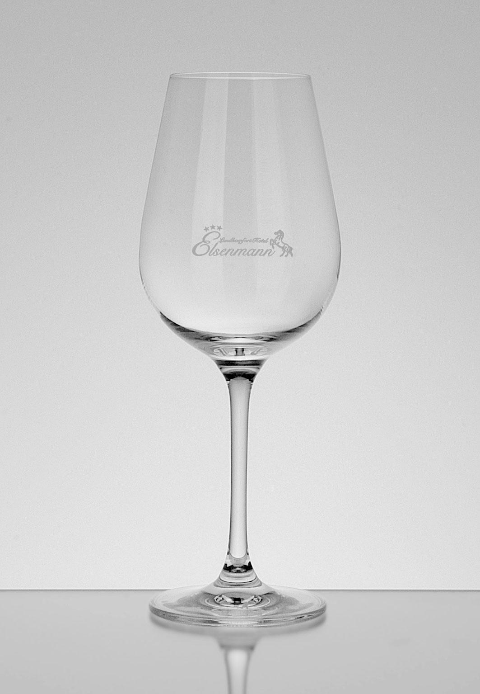 Weinglas mit Logo Gravur Elsmann